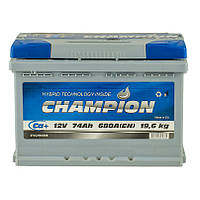 Аккумулятор Champion 74Ah/ пусковой ток 680A / гарантия 2 года