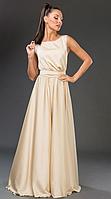 Платье летнее, нарядное, шампань. /8 цветов/