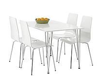 Комлект кухонный ( стол + 4 стула ) белые
