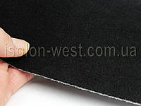 Ткань потолочная черная,авто велюр,автоткань на поролоне с сеткой шир. 1.8м