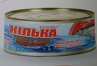 Килька черноморская  обжаренная с овощной гарниром в томатносоусе