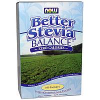 Стевия, Better Stevia Balance, Zero Calories, Now Foods, Нау Фудз, порошок, 110г, 100 пакетов