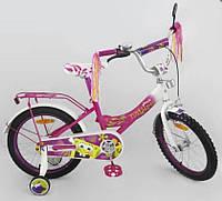 Безопасный детский велосипед 18 дюймов 151827, Губка Боб, страховочные колесики