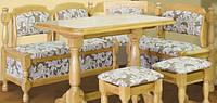 Кухонный уголок  деревянный 800х1200х1500мм    Мебель-Сервис