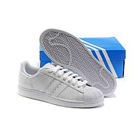 "Женские Кроссовки Adidas Superstar ""White"" - ""Белые"" (Копия ААА+), фото 1"