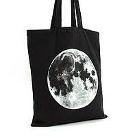 Экосумка текстильная ручная работа художественная роспись Луна -1013