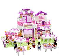 Конструктор Sluban Розовая мечта М38-В0150, 306 деталей, 8 фигурок, разные варианты постройки