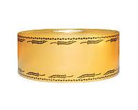 Лента флористическая траурная - №7 (5 см х 100 м) золотая