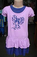 Платье трикотажное летнее для девочки.