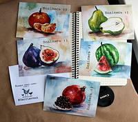 Набір фруктових листівок