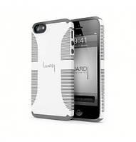 Чехол-накладка для телефона iPhone 5 (Luardi Dual case white/grey)