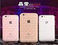Силиконовый чехол для iPhone 6 ромб с камнями