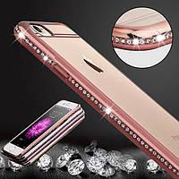 Силиконовый чехол для телефона iPhone 6 Luxury bling diamond frame TPU case