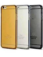 Силиконовый чехол для телефона Lenovo P1m silver, Electroplating TPU case