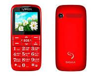 Телефон Sigma Comfort 50 Slim Red (бабушкофон) ' ', фото 1