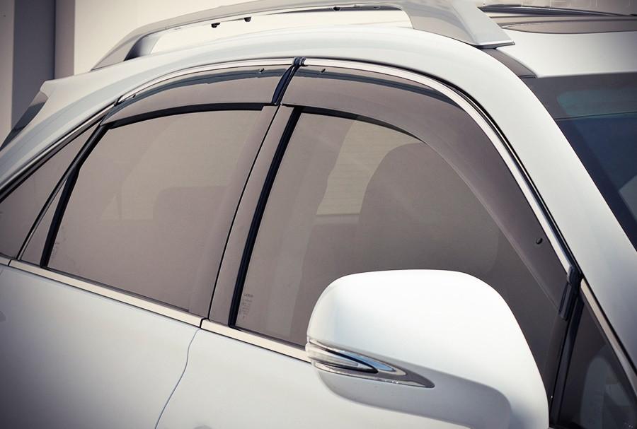 Дефлектори вікон (вітровики) Лексус RX 350/400 2009-2015 ( c хромом), 08611-48820