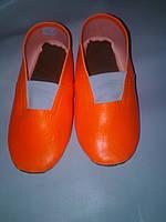 Чешки оранжевые из винила