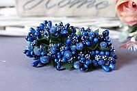"""Добавка """"сложные тычинки"""" 144 шт/уп оптом цвета """"сапфир"""" (насыщенно-синий), фото 1"""