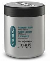 Echosline Крем-маска для волос 5-действий с экстрактами трав 1000 мл