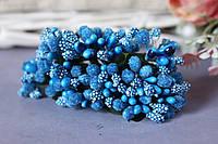 """Добавка """"сложные тычинки"""" 144 шт/уп оптом синего цвета , фото 1"""