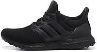 Мужские кроссовки Adidas Ultra Boost Black (адидас ультра буст) черные