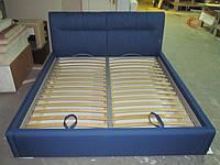 Кровать с мягким изголовьем на ламелях на заказ, фото 1