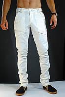 Модные белые мужские штаны, р.28.30