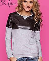 Молодежный женский свитер   Dope sk коричневый