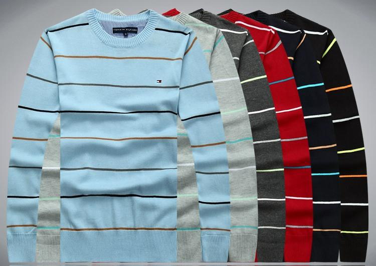 В стиле Tommy hilfiger Мужской свитер пуловер джемпер 100% хлопок