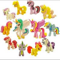Фигурки My little pony Маленький пони разные 12 шт набор, фото 1