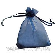 Мешочек из органзы 7х9 см Синий темный