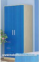 Симба шкаф 2Д+3Ш (Мебель-Сервис) 930х526х1942 мм