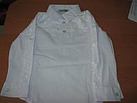 Блузка-рубашка белая с длинным рукавом для девочки 134-152 см Турция