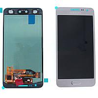 Дисплей для Samsung SM-A800 Dual Galaxy A8, белый, с тачскрином, оригинальный