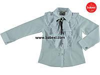 Нарядная белая блуза для девочки 5,6,7,8,лет код.202889