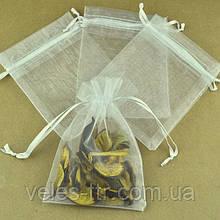 Мешочек из органзы 7х9 см Желтый пастельный