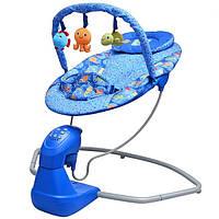 Детские музыкальные качели Bambi S 003, звук, мягкие игрушки, съёмная дуга, 5 режимов укачивания