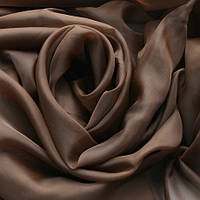 Тюль т.коричневая Вуаль, однотонная + высококачественный пошив
