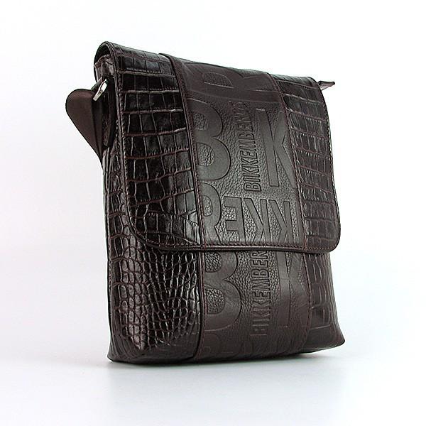 a45d0d63085b Коричневая мужская сумка кожаная Bikkembergs - Интернет магазин сумок  SUMKOFF - женские и мужские сумки,