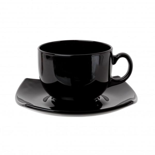 Quadrato Black Сервиз чайный 220 мл -12 пр. Luminarc E8848