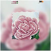 """Схема для вышивки бисером на подрамнике (холст) """"Розовый тюльпан"""""""