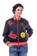 Куртка черная молодежная демисезонная В - 950 Лаке Тон 16  42,46-54 размеры