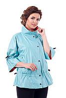 Куртка  голубая женская демисезонная двухсторонняя В - 941 Тон 640+628  44-60 размеры