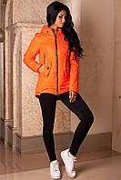 Куртка  оранжевая женская стеганная демисезонная  В-959 Лаке Тон 8