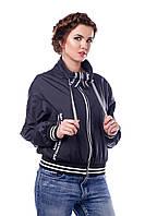 Куртка черная молодежная демисезонная В - 949 Лаке Тон 16  42-54 размеры