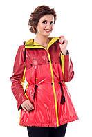 Куртка малиновая женская осенняя В - 943 Тон 551 44-54 размеры