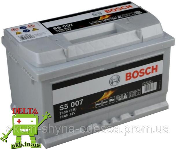 Аккумулятор BOSCH Silver 74 Ah 750A S5 0092S50070