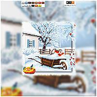 """Схема для вышивки бисером на подрамнике (холст) """"Украинский пейзаж. Зима"""""""