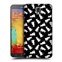 Пластиковый чехол для Samsung Galaxy Note3 узор Компания белых котов
