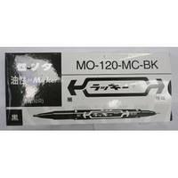 Маркер двухстор. тонкий черный MO-120 / 226 (10/100/2400)